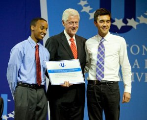 Clinton, Saeed Hassan, Matt Severson, The School Fund, CGIU