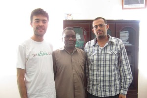 Fuad Abri with Matt Severson after arranging an impromptu meeting with Iringa's Director for Municipal Education Mr. Mfilinge