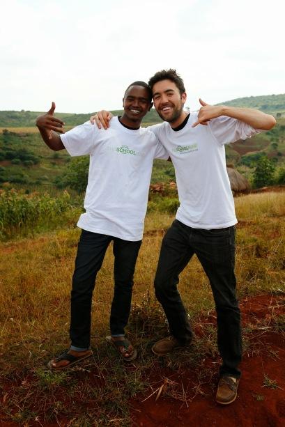 John Medo and Matt Severson in Karatu, Tanzania; Summer 2013.